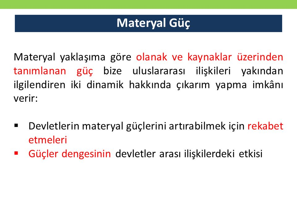 Materyal Güç