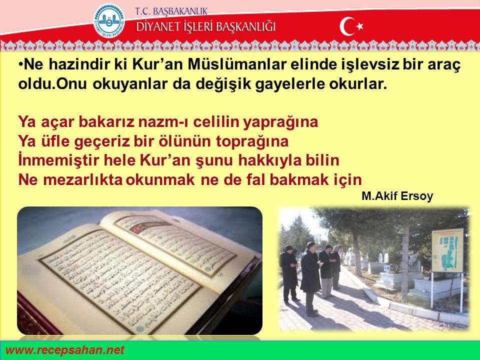 Ne hazindir ki Kur'an Müslümanlar elinde işlevsiz bir araç oldu