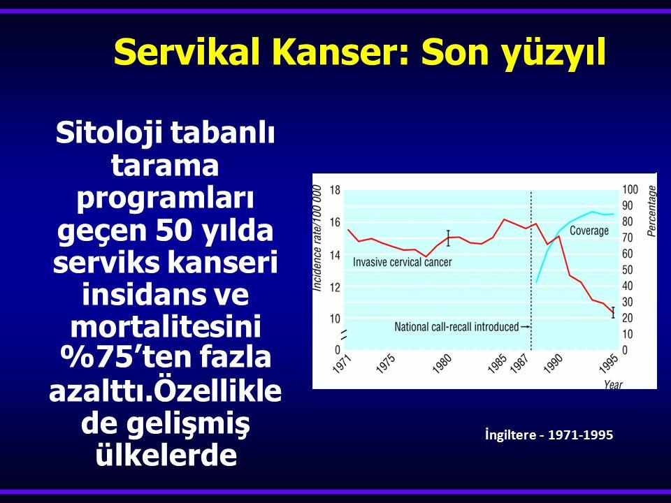 Servikal Kanser: Son yüzyıl
