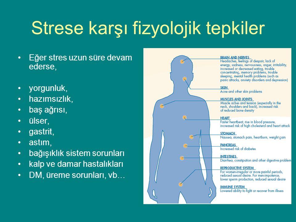 Strese karşı fizyolojik tepkiler