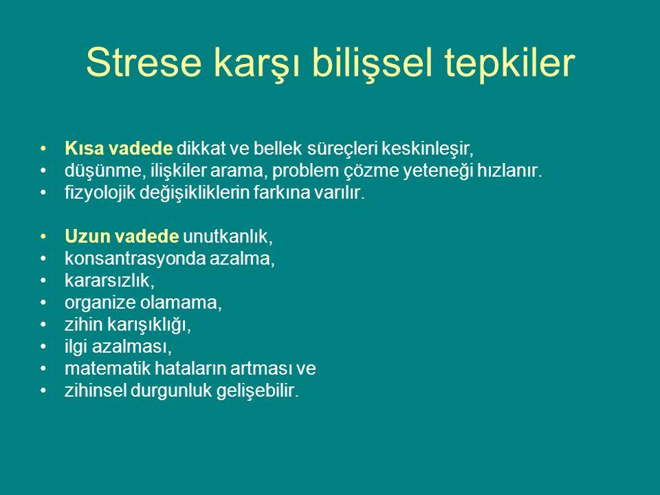 Strese karşı bilişsel tepkiler