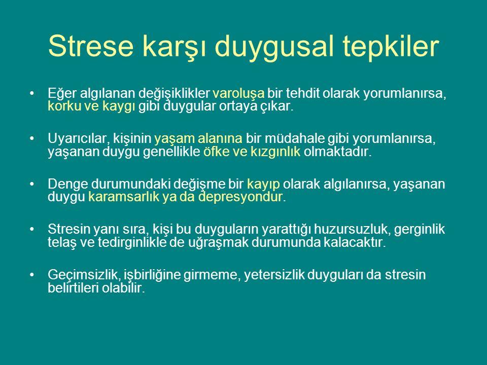 Strese karşı duygusal tepkiler