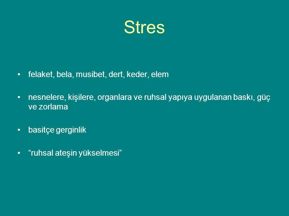 Stres felaket, bela, musibet, dert, keder, elem