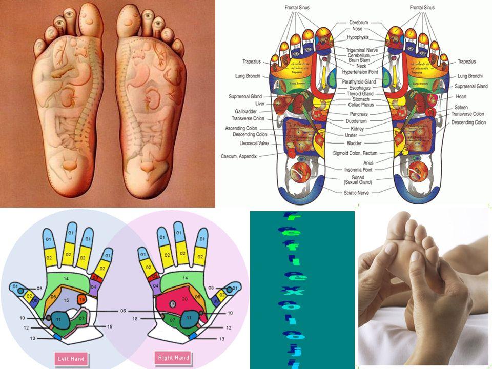 Kulakta olduğu gibi el ve ayak tabanında da insanın temsili bir yerleşimi vardır. Kore'lilerin geliştirdiği bir tedavidir. Bu noktalara yapılan masaj ve manipülasyonlar iyileşme sağlamaktadır.