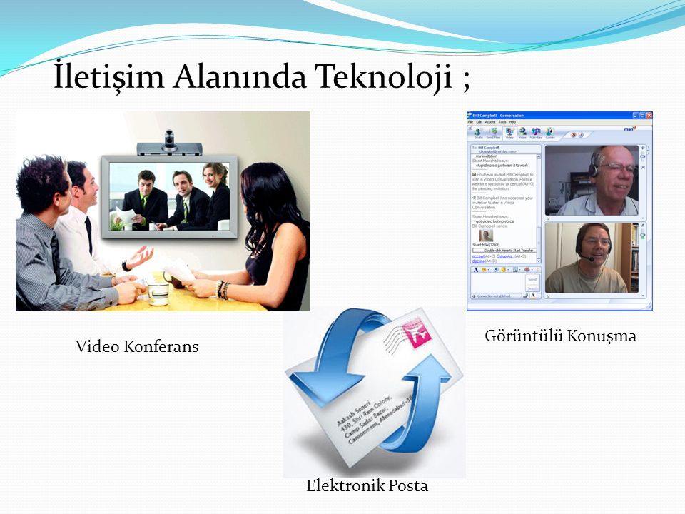 İletişim Alanında Teknoloji ;
