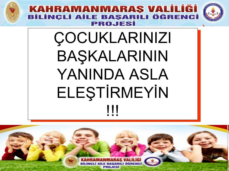 ÇOCUKLARINIZI BAŞKALARININ YANINDA ASLA ELEŞTİRMEYİN !!!