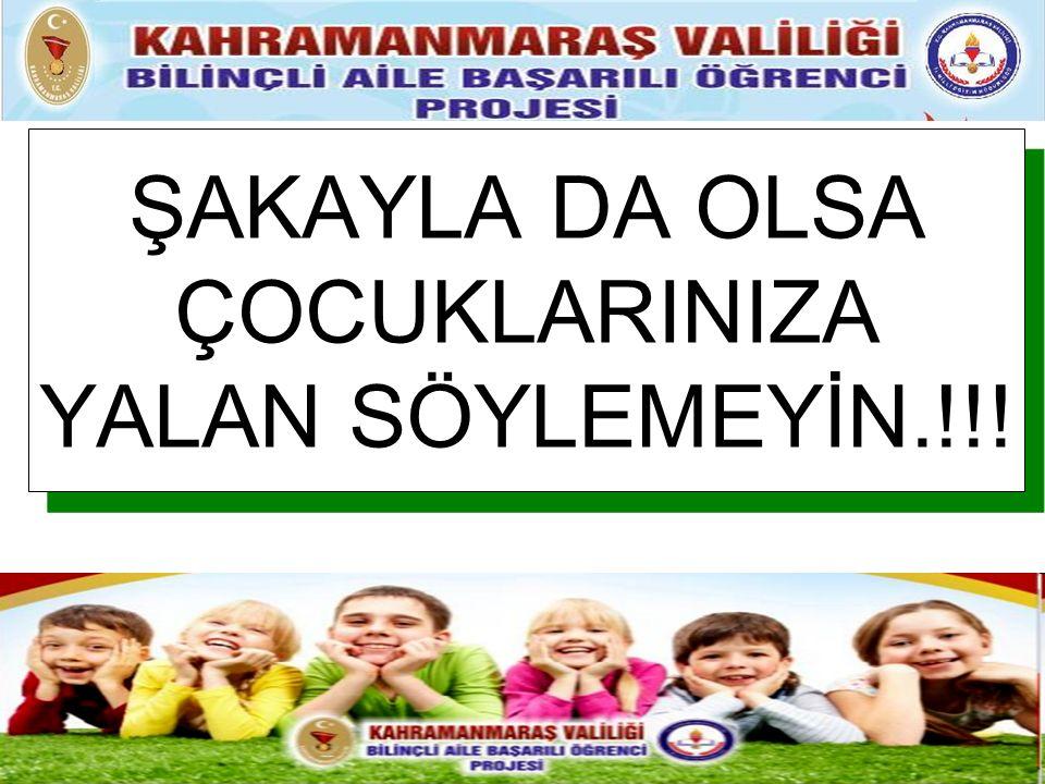 ŞAKAYLA DA OLSA ÇOCUKLARINIZA YALAN SÖYLEMEYİN.!!!