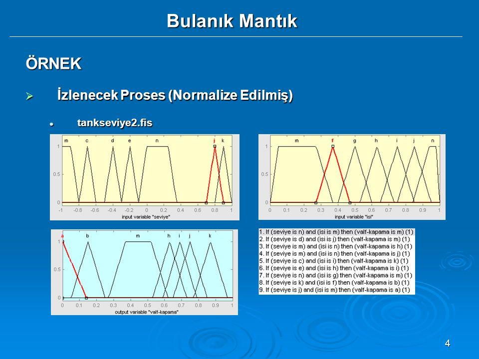 ÖRNEK İzlenecek Proses (Normalize Edilmiş) tankseviye2.fis