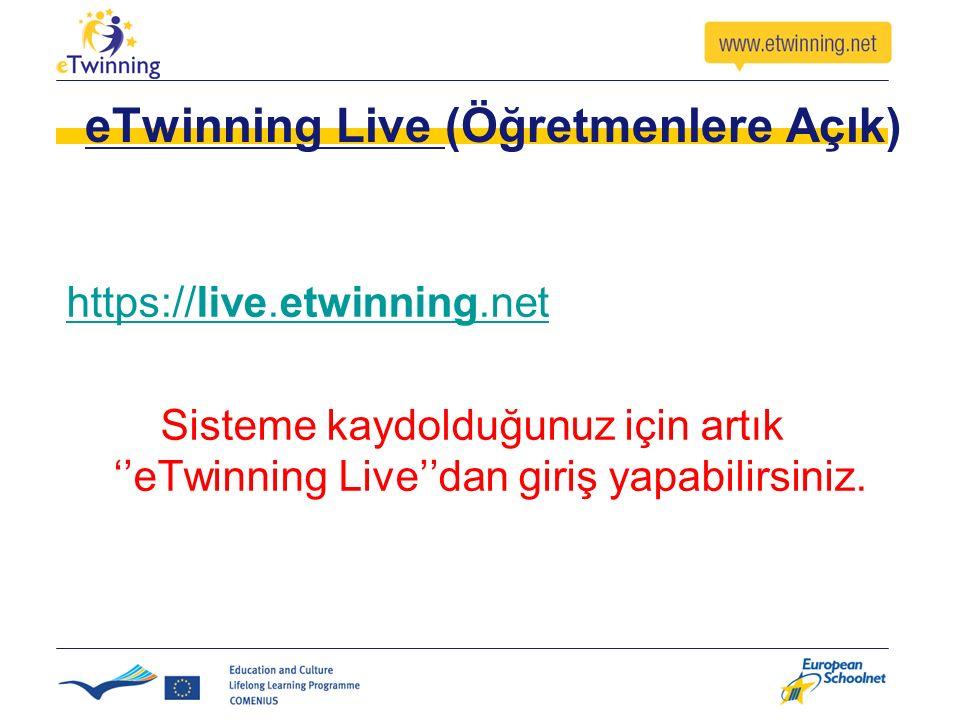 eTwinning Live (Öğretmenlere Açık)