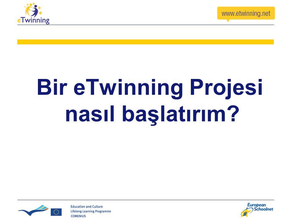 Bir eTwinning Projesi nasıl başlatırım
