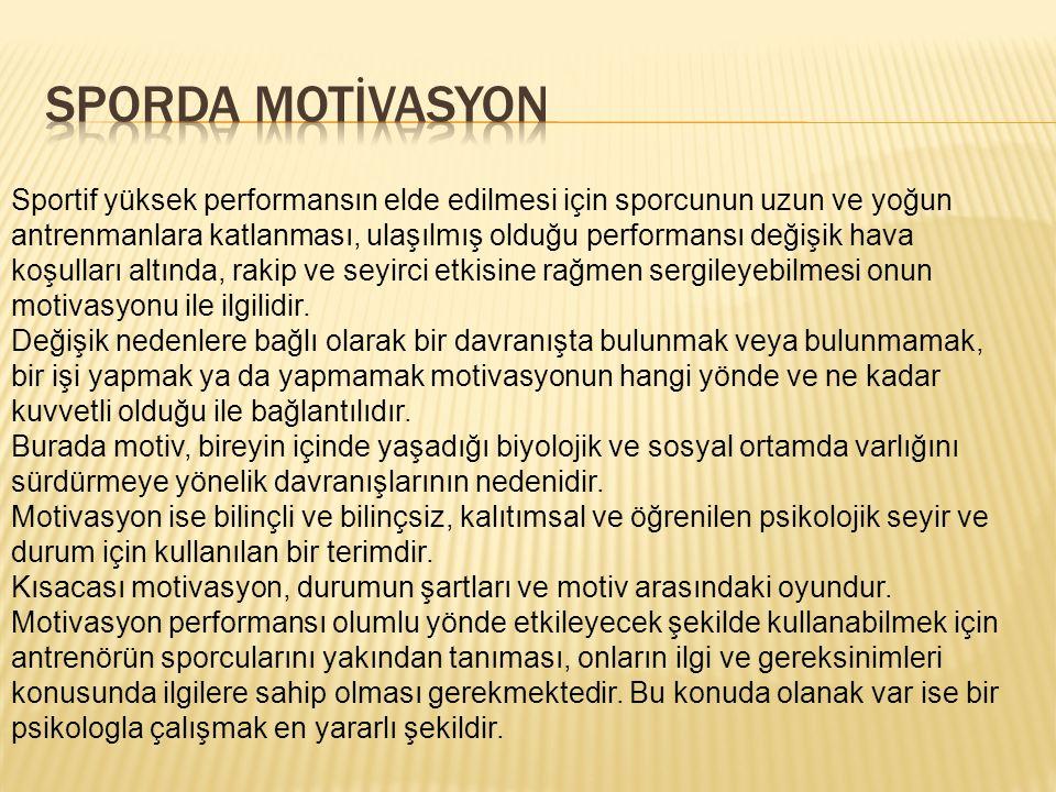 SPORDA MOTİVASYON