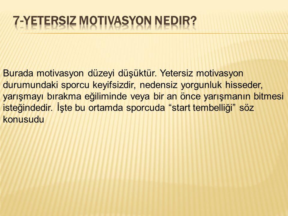7-Yetersiz motivasyon nedir