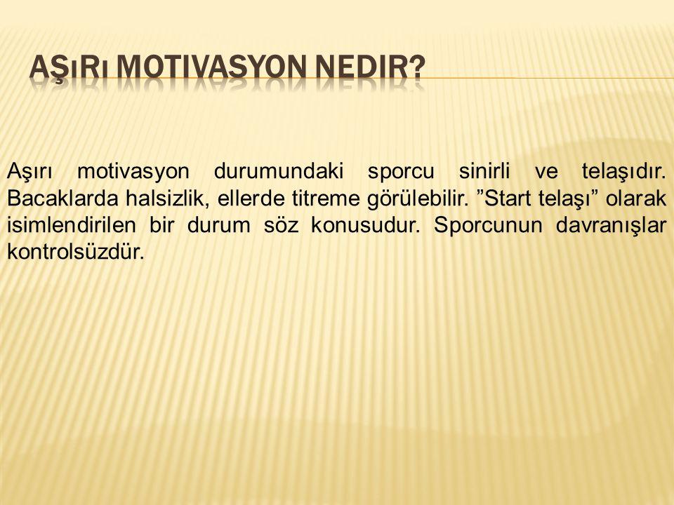 Aşırı motivasyon nedir