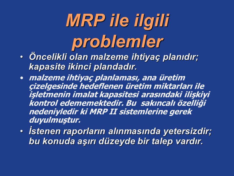 MRP ile ilgili problemler