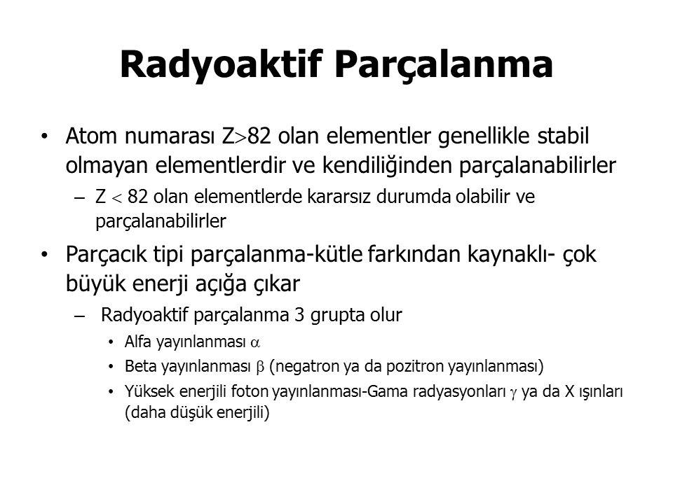 Radyoaktif Parçalanma
