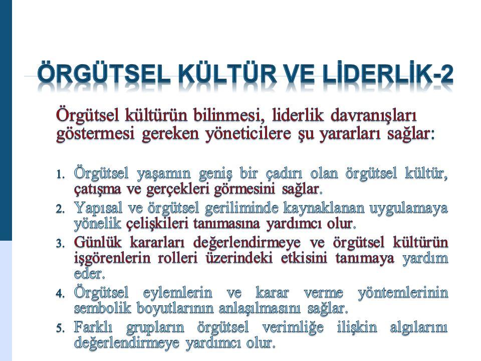 ÖRGÜTSEL KÜLTÜR VE LİDERLİK-2
