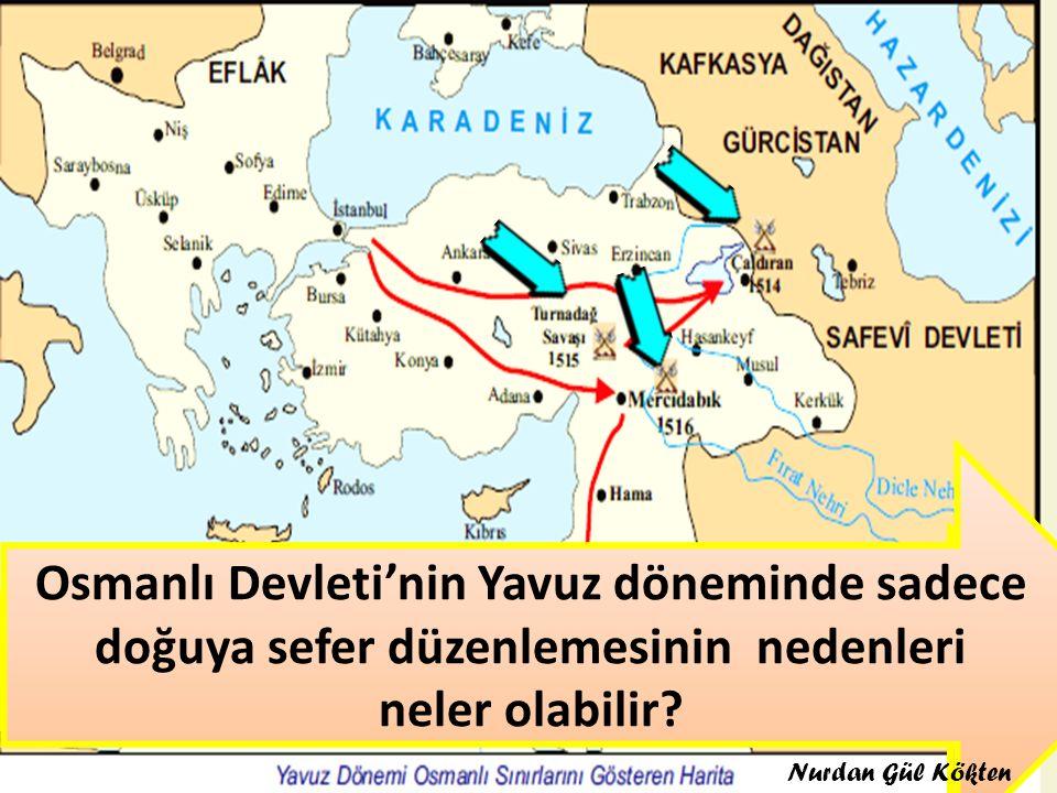 Haritada Yavuz'un seferlerini gösteriniz