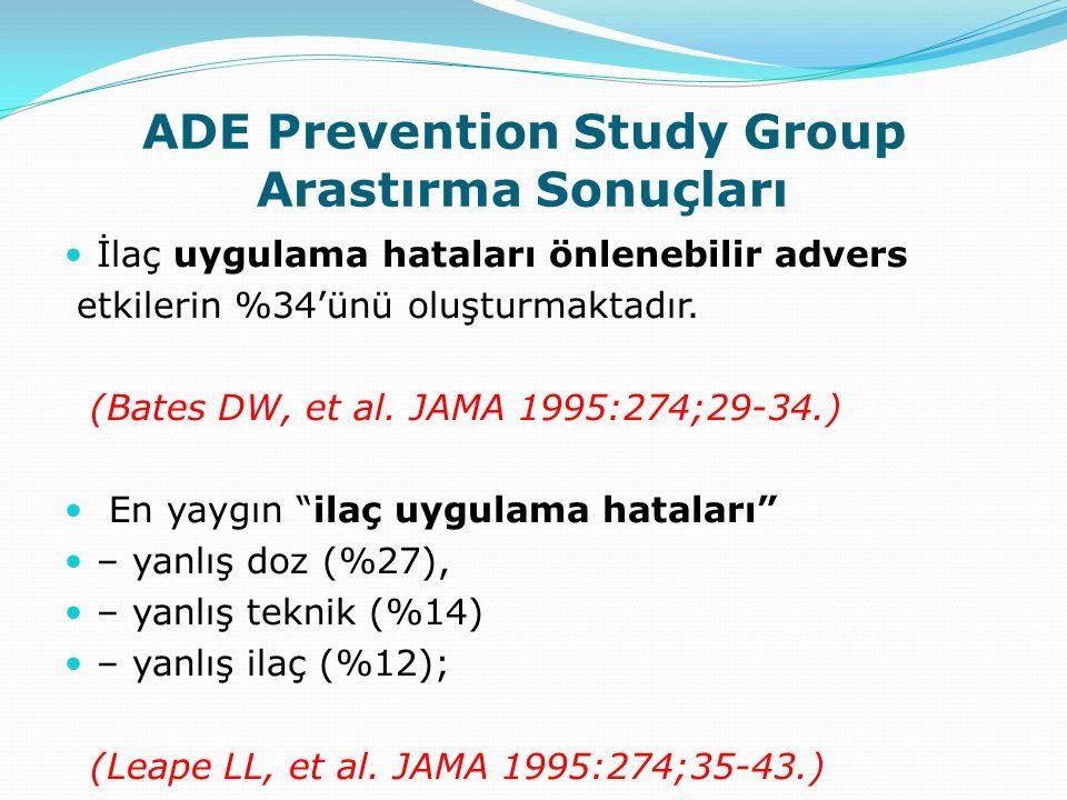 ADE Prevention Study Group Arastırma Sonuçları