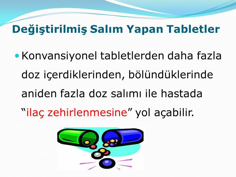 Değiştirilmiş Salım Yapan Tabletler