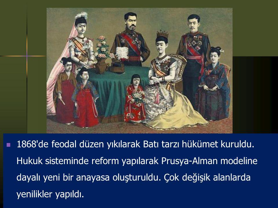 1868 de feodal düzen yıkılarak Batı tarzı hükümet kuruldu