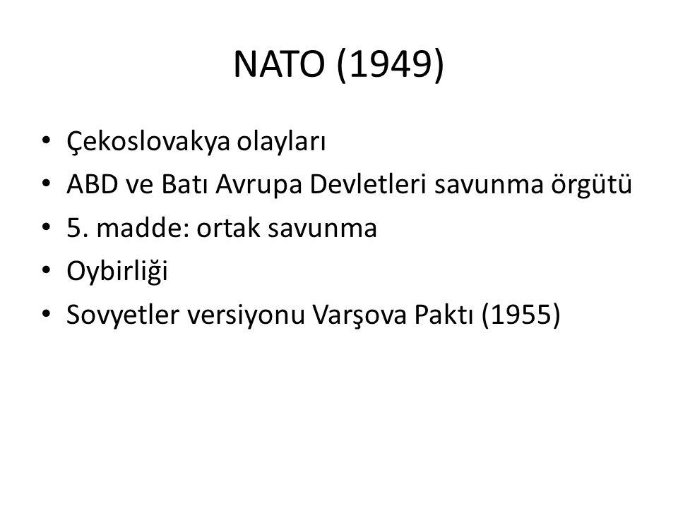 NATO (1949) Çekoslovakya olayları