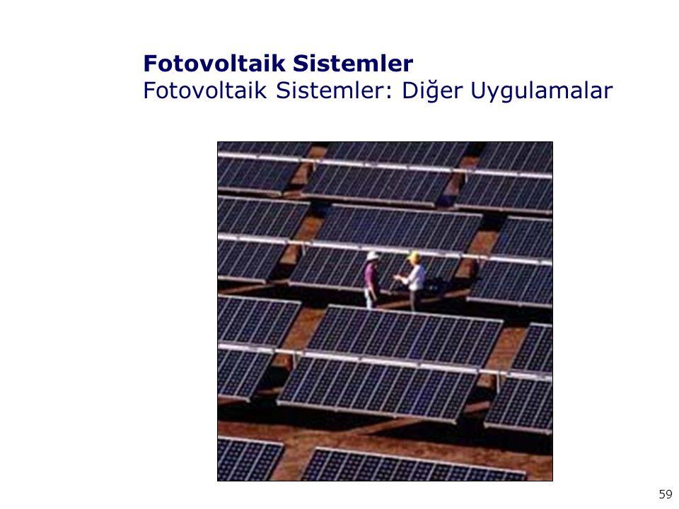 Fotovoltaik Sistemler Fotovoltaik Sistemler: Diğer Uygulamalar