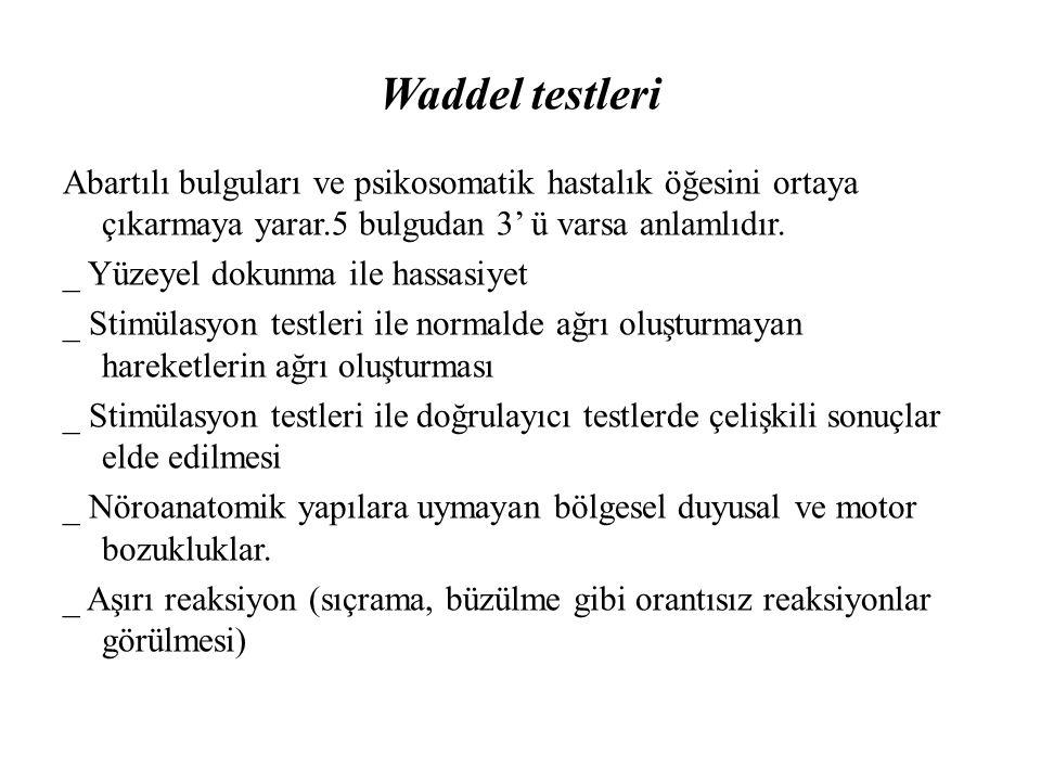 Waddel testleri