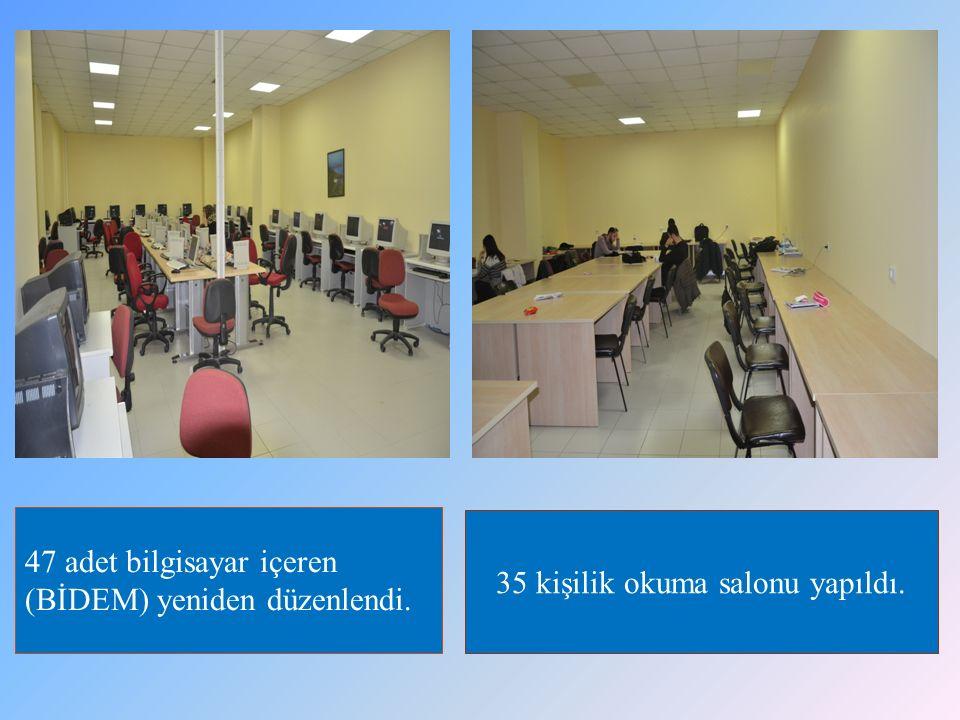 35 kişilik okuma salonu yapıldı.