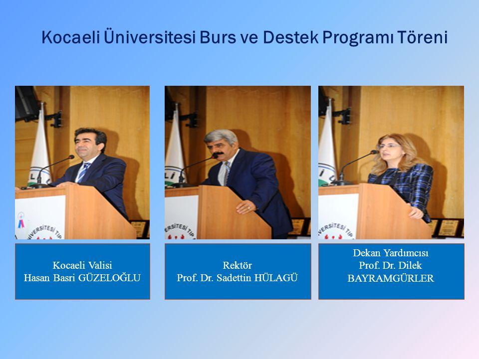 Kocaeli Üniversitesi Burs ve Destek Programı Töreni