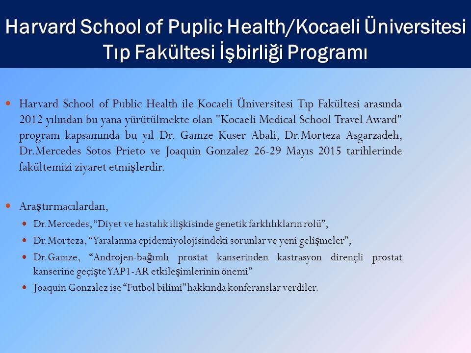 Harvard School of Puplic Health/Kocaeli Üniversitesi Tıp Fakültesi İşbirliği Programı