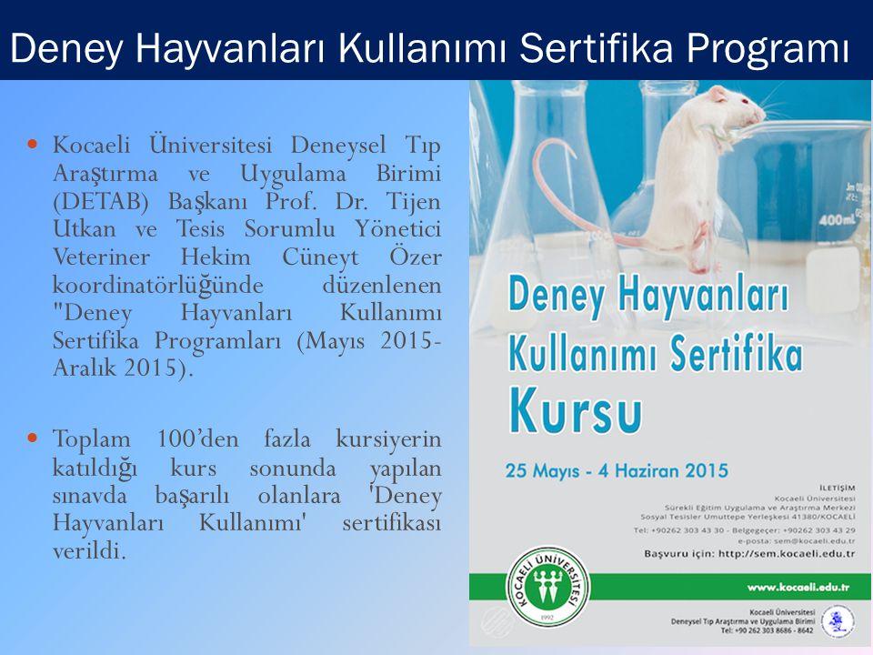 Deney Hayvanları Kullanımı Sertifika Programı