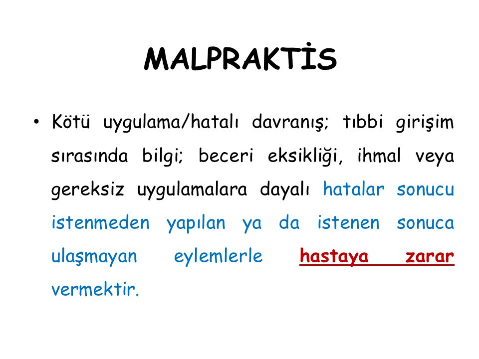 MALPRAKTİS