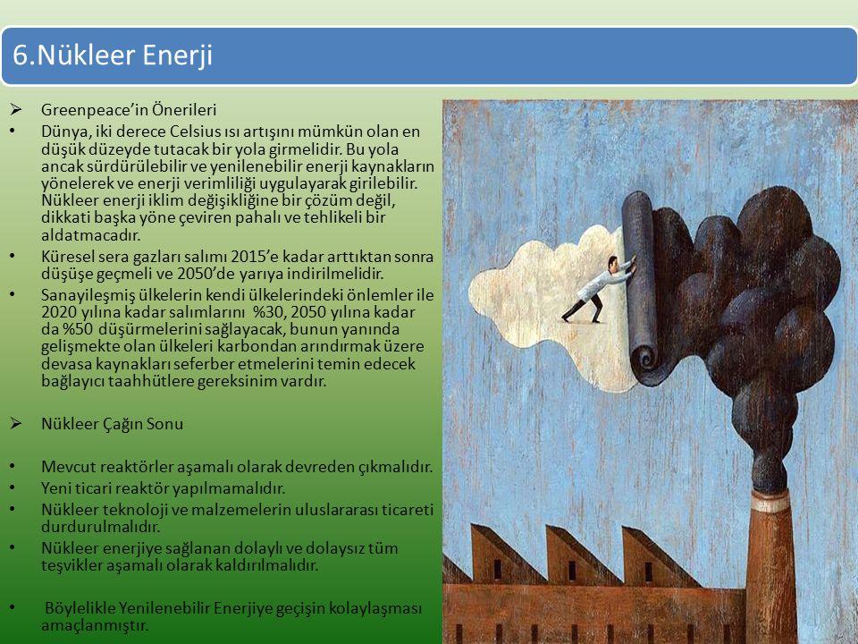 6.Nükleer Enerji Greenpeace'in Önerileri