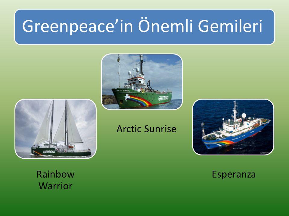 Greenpeace'in Önemli Gemileri