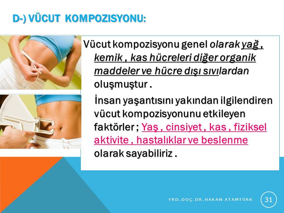 d-) Vücut Kompozisyonu: