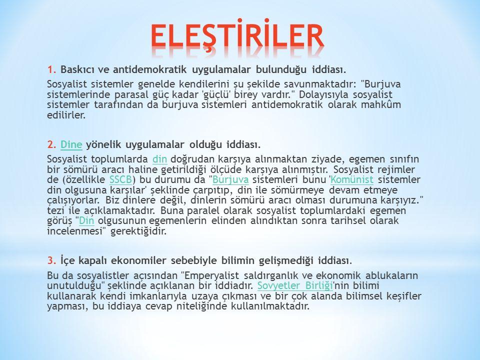 ELEŞTİRİLER