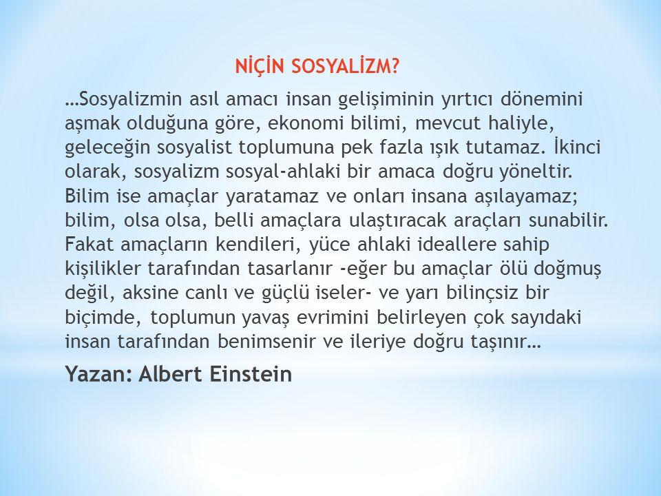 Yazan: Albert Einstein