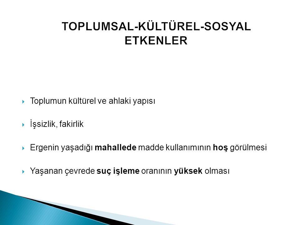 TOPLUMSAL-KÜLTÜREL-SOSYAL ETKENLER