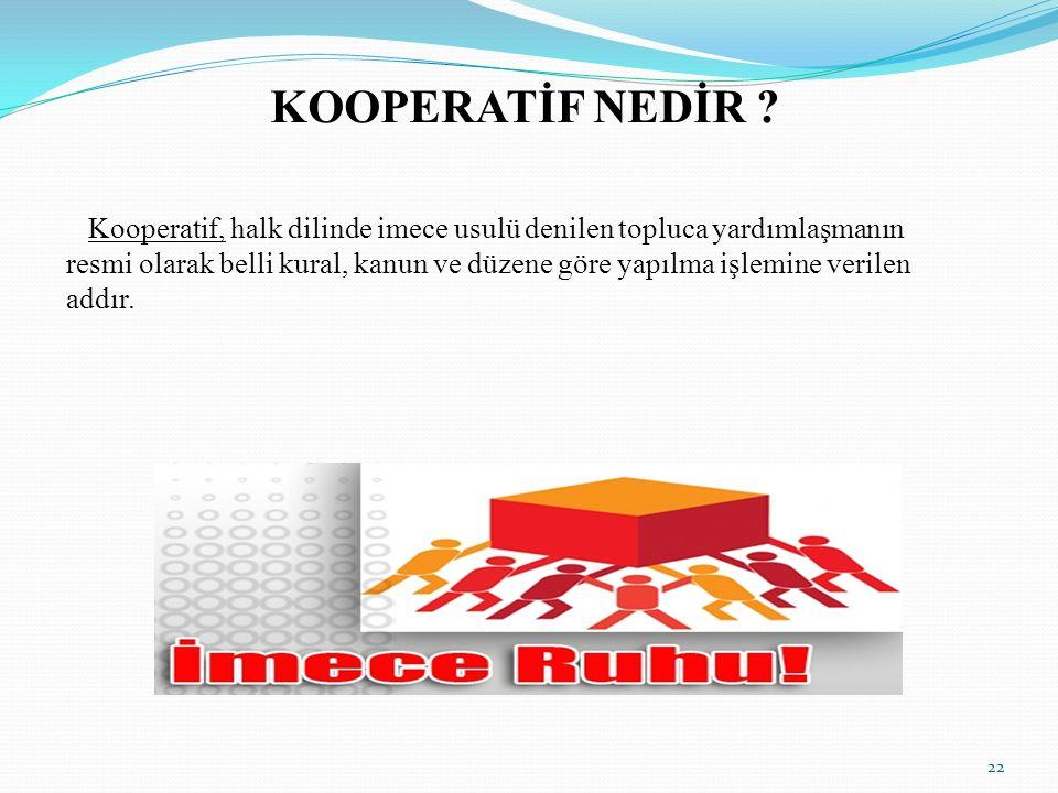 KOOPERATİF NEDİR