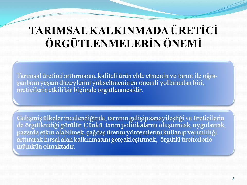 TARIMSAL KALKINMADA ÜRETİCİ ÖRGÜTLENMELERİN ÖNEMİ