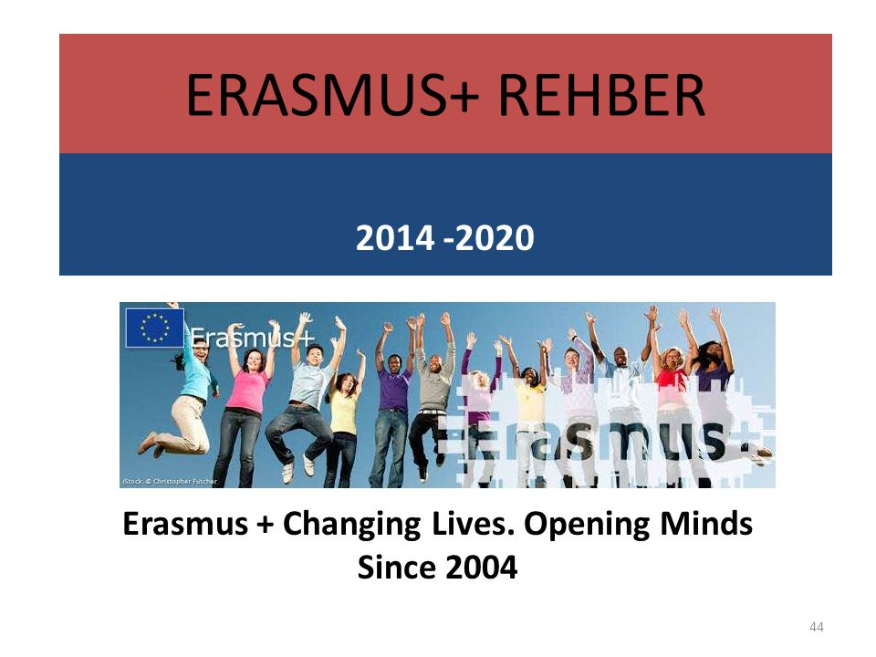 Erasmus + Changing Lives. Opening Minds Since 2004