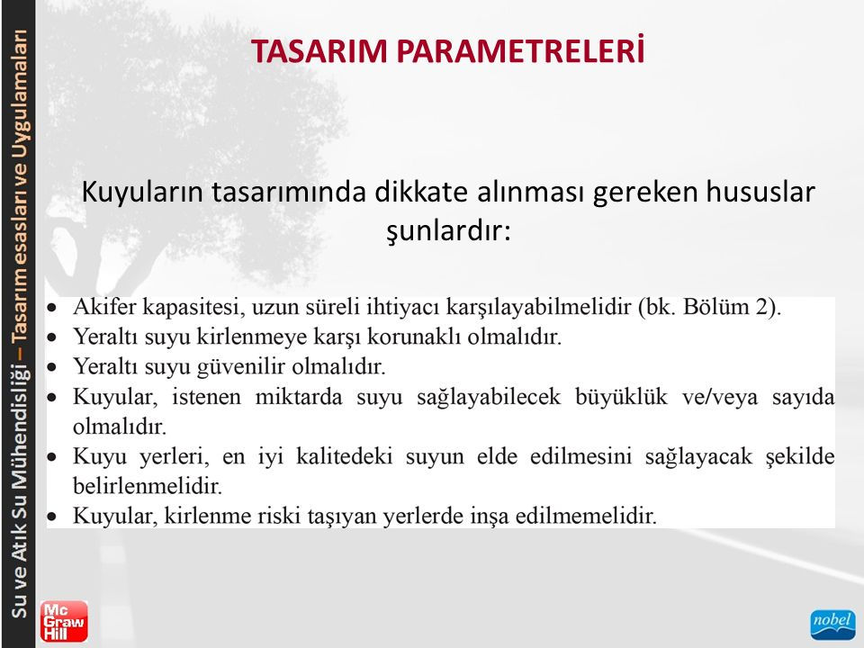 TASARIM PARAMETRELERİ