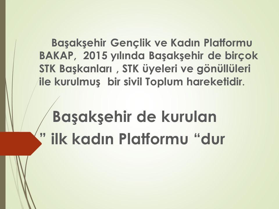 ilk kadın Platformu dur