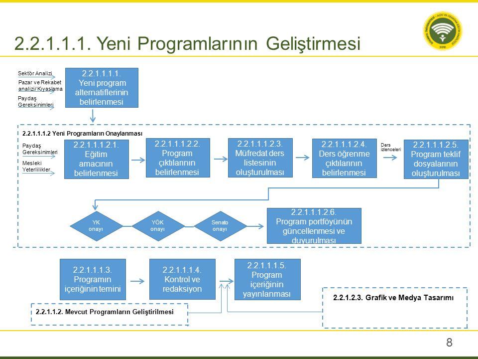 2.2.1.1.2. Mevcut Programlarının Geliştirmesi