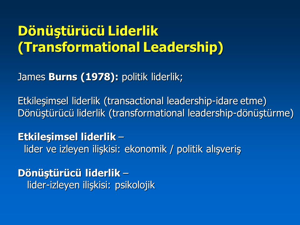 (Transformational Leadership)