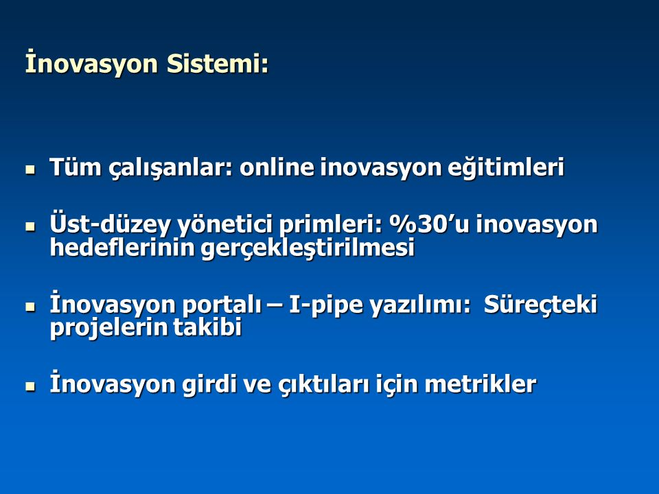 İnovasyon Sistemi: Tüm çalışanlar: online inovasyon eğitimleri