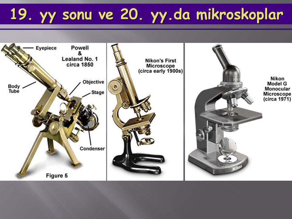 19. yy sonu ve 20. yy.da mikroskoplar