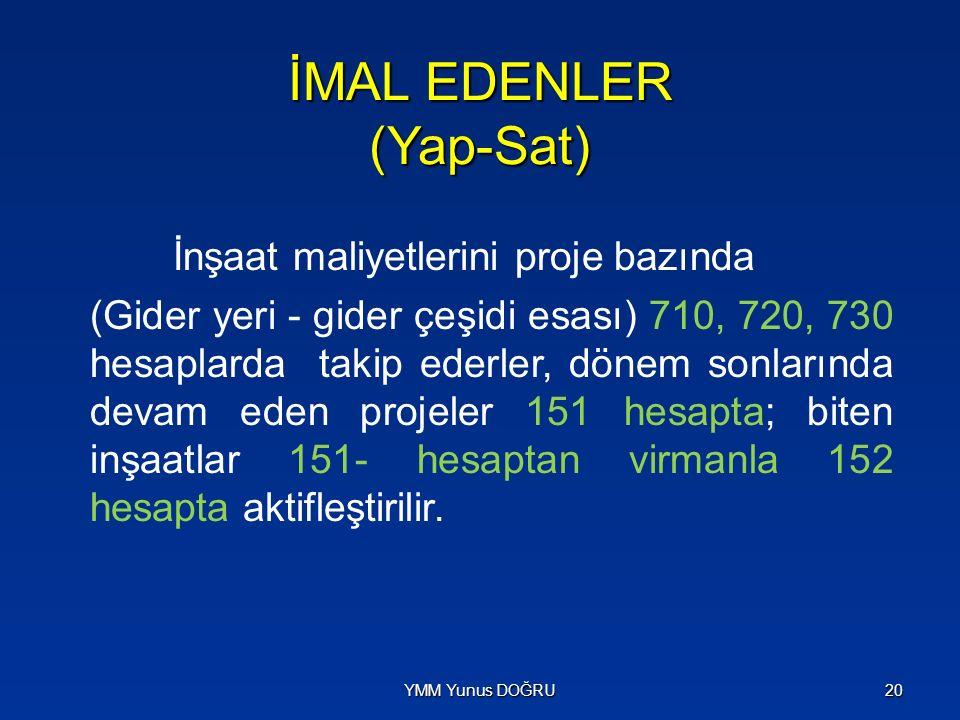 İMAL EDENLER (Yap-Sat)