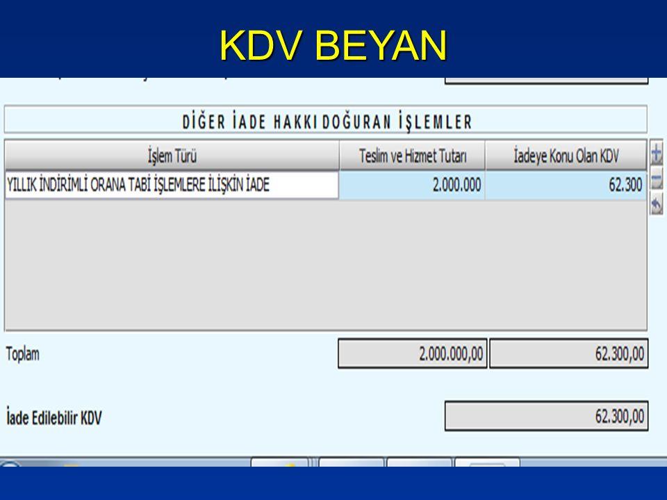 KDV BEYAN