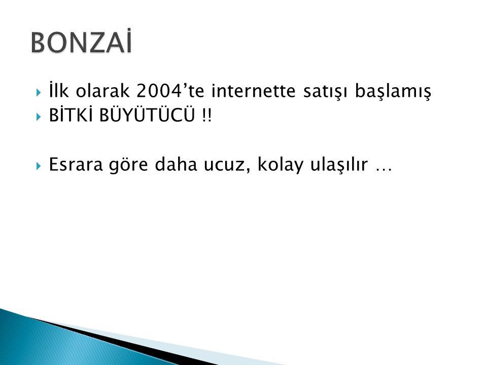 BONZAİ İlk olarak 2004'te internette satışı başlamış BİTKİ BÜYÜTÜCÜ !!